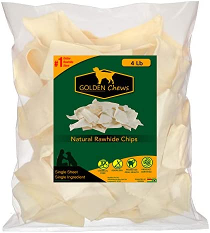 Golden Chews Natural Rawhide Chips product image