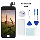 For iPhone 6S Screen Replacement LCD Black - with [ Proximity Sensor] [ Ear Speaker] [ Front Camera] [ Repair Tools] Display Touch Digitizer Frame Assembly Full Repair Kit