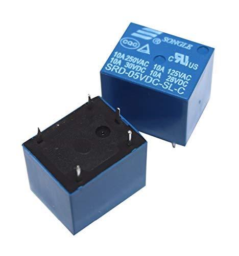 Smart zone 5V DC SONGLE Power Relay T73-5V SRD-05VDC-SL-C DIP-5 PCB Type, Pack of 5 Price & Reviews