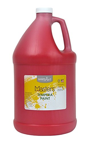 Handy Art Little Masters Tempera Paint Gallon, Red (Tempera Paint Red)