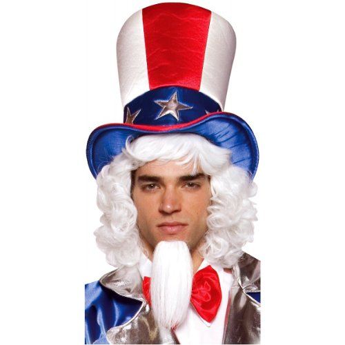 - Rasta Imposta Uncle Sam Top Hat, Red/White/Blue, One Size