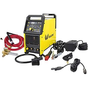 Weldpro Digital TIG 200GD ACDC 200 Amp Tig/Stick Welder with Pulse CK 17 Worldwide Superflex Torch/with Trigger Switch Dual Voltage 220V/110V Welding Machine