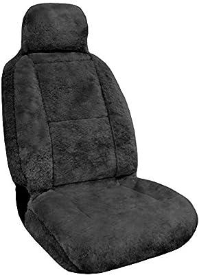 Eurow Sheepskin Seat Cover New XL Design Premium Pelt - Gray