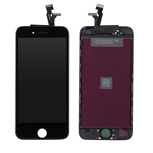 New DATTON 2nd Black LCD Replacement fits for iPhone 6 4.7 inch Front Panel Touch Screen digitizer Assembly Glass Display Frame Set Full Completed with Tool Kits