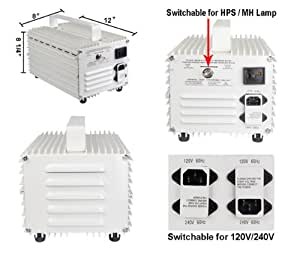 400w Switchable Ballast for HPS MH Grow Light System