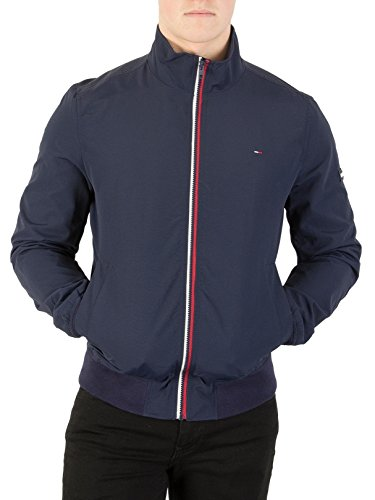 Tommy Jeans Men's Basic Casual Bomber Jacket, Blue, X-Small (Tommy Hilfiger Bomber Jacket)