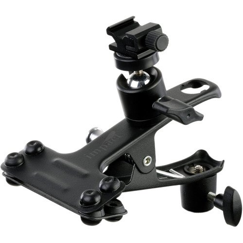 Impact Large Clip Clamp with Ball Head Shoe Mount and 5/8'' Receptor / 3/8'' Female Threads by Impact