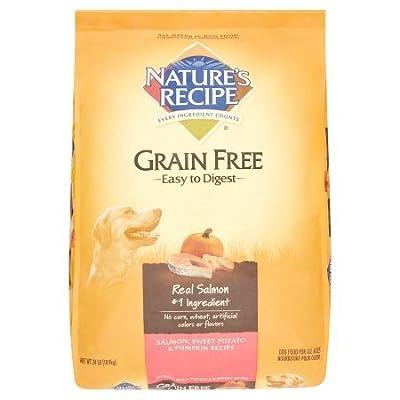 Nature's Recipe Grain Free Easy to Digest Salmon, Sweet Potato & Pumpkin Recipe Dry Dog Food, 24 lb