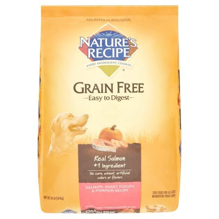 Nature's Recipe Grain Free Easy to Digest Salmon, Sweet Potato & Pumpkin Recipe Dry Dog Food, 24 lb
