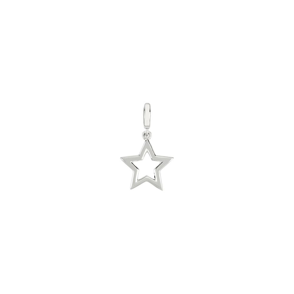 Jewels By Lux 925 Sterling Silver Petite Star Charm