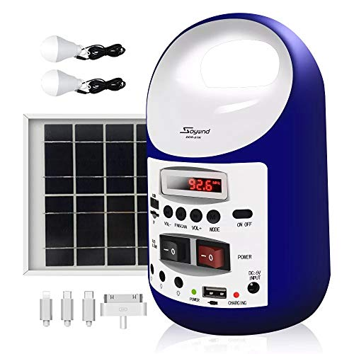 soyond Portable Solar Generator with Panel, Solar Powered Electric Generator Kit (Blue)