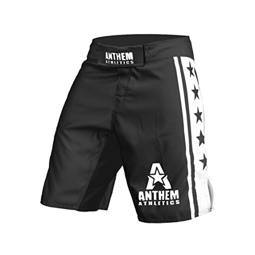 Anthem Athletics RESILIENCE MMA Shorts - Black & White - - Fight White Mma Shorts