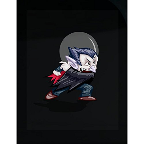Vampire Images Costumes (Awesome Vampire Cool Image Nice Costume With Moon Image - Sticker)