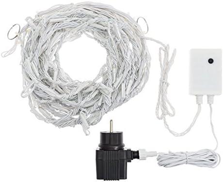 LED-Eiszapfen-Lichterkette 3 x 0,8 m, 192 LEDs kaltweiß, weißes Gummikabel, mit Lichtspielen Snow Light, Weihnachtsbeleuchtung, Lichtdekorationen, Leuchteffekte, Weihnachtslichterketten