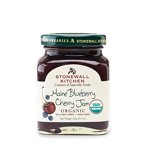 Stonewall Kitchen Maine Blueberry Cherry Jam (Organic), 8.5 ounces
