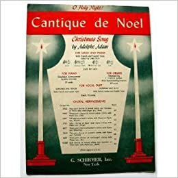 Cantique de Noël (Christmas Song) O Holy Night (Adam)