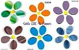 Set/6 Spectrum COE 96 FLOWERS Precut Fusible Glass