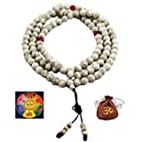Unisex Meditation Yoga 108 8mm Tibetan Buddhist Bodhi Lotus Seeds Worry Prayer Beads Mala Bracelet Necklace (Rose)