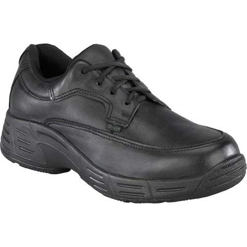 Florsheim Womens Black Leather Work Shoes Postal Classic Oxfords 8 M
