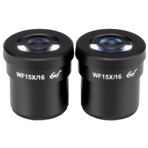 AmScope Pair of Extreme Widefield 15X Eyepieces (30mm) by AmScope