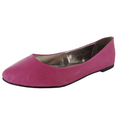 Zapato Plano Para Mujer Steve Madden P-almo Fuschia Leather