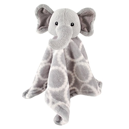 Hudson Baby Animal Friend Plushy Security Blanket, Gray Elephant