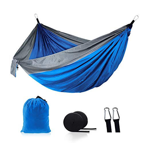 umsky 2 Person Jungle Hammock with Mosquito Net, Portable Lanyard Outdoor Mosquito Bar Sleeping Hammock Swing Double Bed Green Hanging Bed for Camping and Hiking