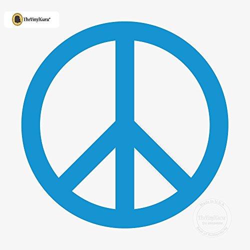 Arctic Applique - TheVinylGuru - Peace Symbol Wall Sticker Decal - Size: 12 in. (12
