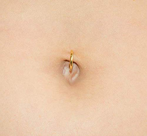 Fake Belly Ring Clip On Navel Piercing Faux Stomach Hoop Non Pierced