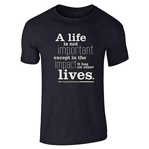 (Jackie Robinson Life Quote Black 2XL Short Sleeve T-Shirt)