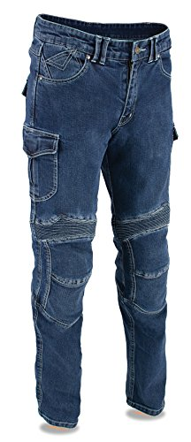 (Milwaukee Leather Men's Straight Cut Denim Jeans Reinforced With Aramid Blue 38 )