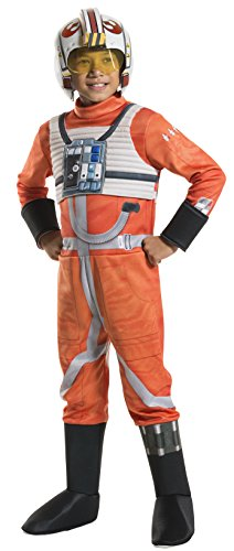 Rubie's Costume Kids Classic Star Wars Deluxe X Wing Fighter Pilot Costume, -