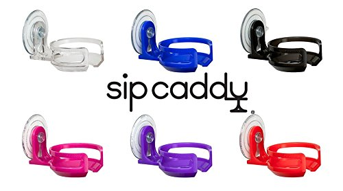 SipCaddy 6-Pack Bath & Shower Portable Cupholder Caddy for Beer & Wine Suction Cup Drink Holder - All Six Colors