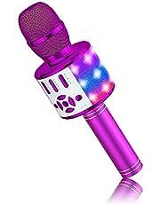 BONAOK Stemverandering Microfoon Voice,Microfoon voor Kinderen, Karaoke Microfoon Bluetooth, Led karaoke Microfoon,Thuis Karaoke Apparaat, Compatibel met iOS Android Bluetooth Apparaten