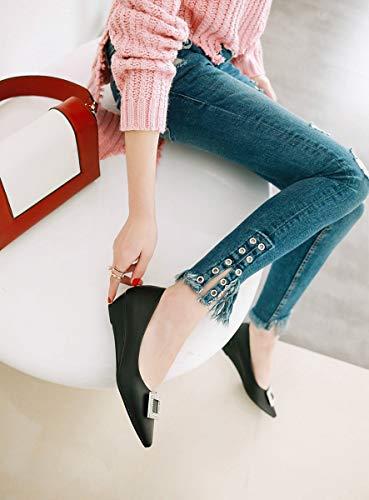 Le A Ou Bas Unique Casual Sauvage Fête a Plates Pointu Boucle À 34eu Shopping Pour Carré Main La Doux Femmes Adong Chaussures Confortable Bout Sequin Shoes Des ZRFqxwRU