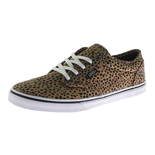 Vans Womens Cheetah Casual Skate Shoes Tan 7.5 Medium - Vans Women Cheetah