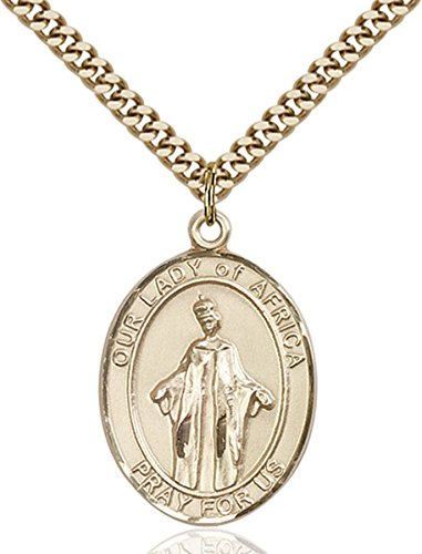 14K Gold Filled Catholic Our Lady of Africa Medal, 1 Inch by Patron Saints by Bliss