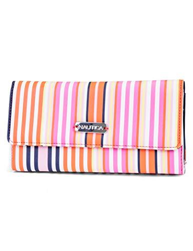 Nautica Money Manager RFID Women's Wallet Clutch Organizer (Cabana) (Nautica Leather Wallet)