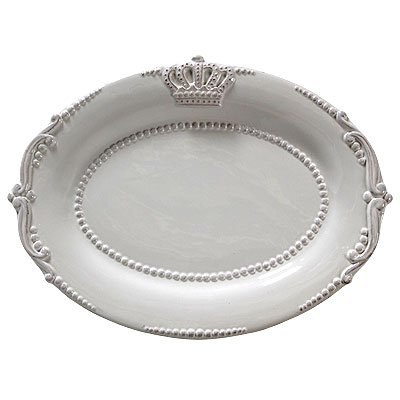 Lot Of 4 Ceramic Crown Oval Dinner Plate White 12.5u0026quot ...  sc 1 st  Amazon UK & Lot Of 4 Ceramic Crown Oval Dinner Plate White 12.5