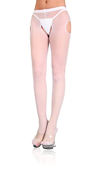 87e1a0a3cf6 Image Unavailable. Image not available for. Color  Leg Avenue Women s Sheer  Suspender Style Pantyhose ...