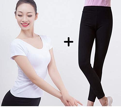 Vshiaifen 大人のダンスパンツ女性の黒の9点のズボンのズボンのバレエボディタイトなストレッチダンス7点の練習のズボン (Color : B, Size : XS)