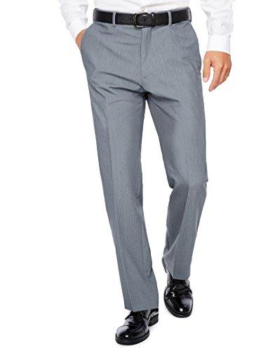 Savane Microfiber Pants - Savane Active Flex Tailored Fit Stretch Flat Front Men's Dress Pants (40W x 32L, Grey)