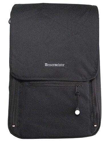 Messermeister 6-Pocket Messenger Knife Bag, Black ()