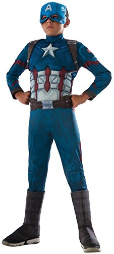 Kids England Costume For (Rubie's Costume Captain America: Civil War Deluxe Captain America Costume,)