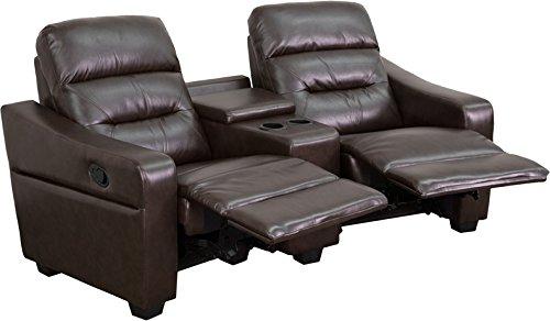 Flash Furniture 2 Seat Futura Series Reclining Leather Theat