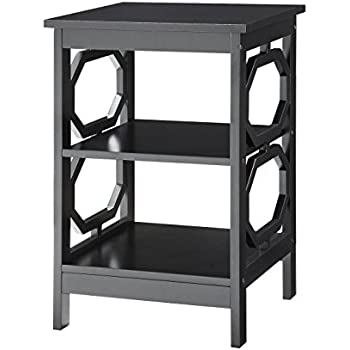 Delightful Convenience Concepts Omega End Table, Black