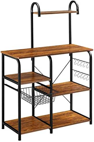 Mr IRONSTONE Vintage Kitchen Baker's Rack Utility Storage Shelf 35.5