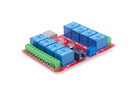 KNACRO 12v 8 Channel USB Relay Module Programmable