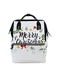 ff0a70bf82 imobaby Vintage Merry Christmas Changing Bags Large Capacity Handbags  Canvas Shoulder Bag…