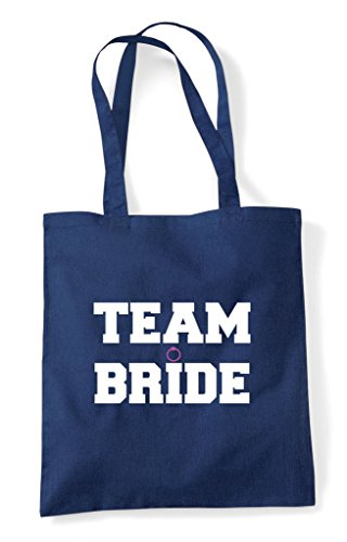 Navy Shopper Team Tote Party Style Do Bride Customised Bag Sport Personalised Hen 61nBPFZ1